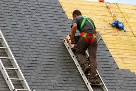 Toronto roofer at work